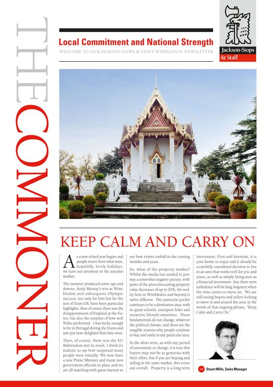 Time to sit back, relax and enjoy the latest issue of The Commoner from our Wimbledon office