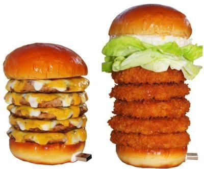 Now you can win a GIANT burger USB flash drive