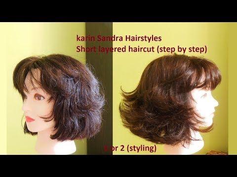 Haircut Tutorial Short Layered Bob Haircut With Bangs For Women Y Girls Short Haircu Short Layered Bob Haircuts Layered Bob Haircuts Bob Haircut With Bangs