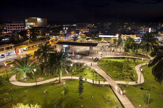 The town of Coca Ecuador at night