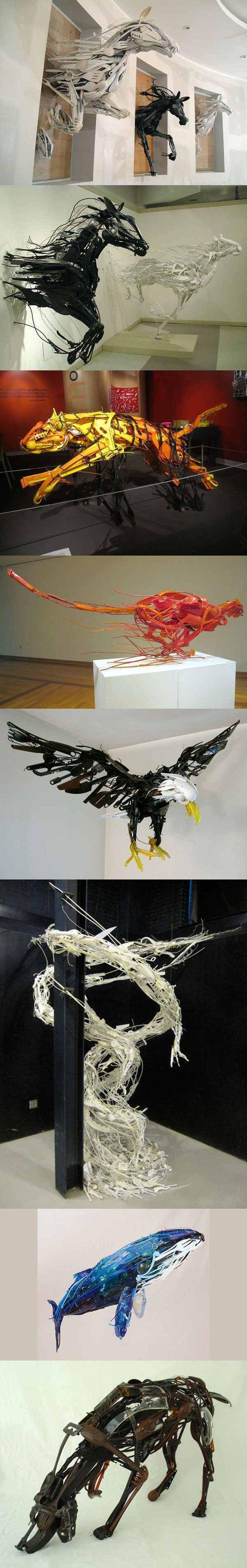 Sculpture recyclé | Sayaka Ganz: