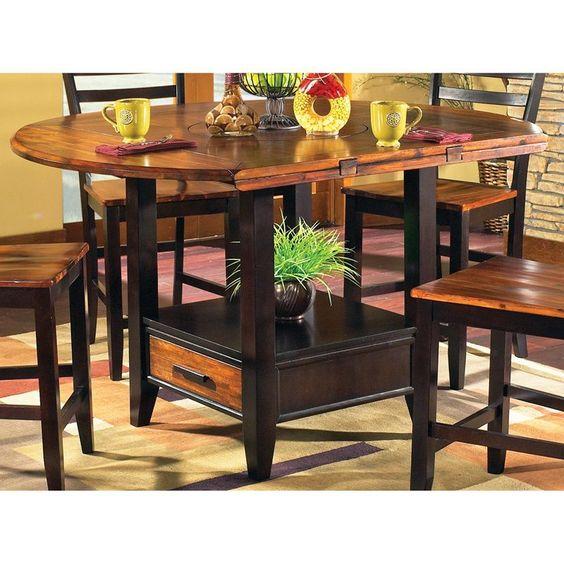 Kitchen Bar Table With Storage: Kitchen : Counter Height Kitchen Tables With Storage