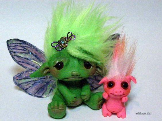 Troll, trollfling fairy by CDHM Artisan Amber Matthies of The Trollflings Trolls, www.cdhm.org/user/trollgirl