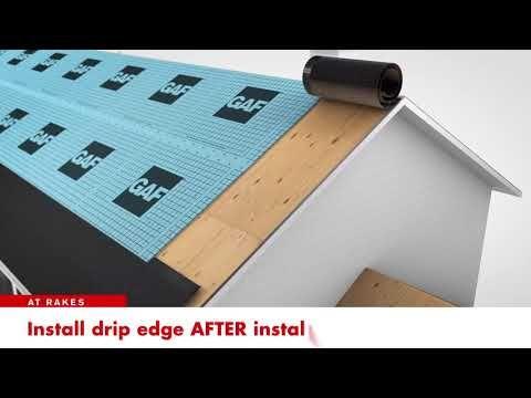 Gaf Pro Series Leak Barrier Basic Install Youtube Drip Edge Fibreglass Roof Roof Panels