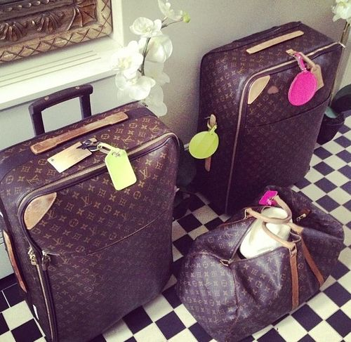 LV luggage....a girl can dream....
