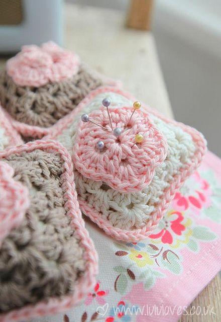 Crochet Granny Square Pincushion by LululovesUK
