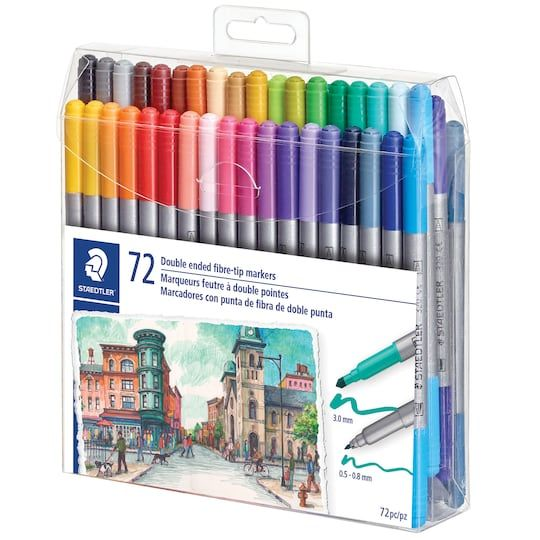 Staedtler Duo Fiber Tip Pens Gel Pens Markers Stationary Supplies