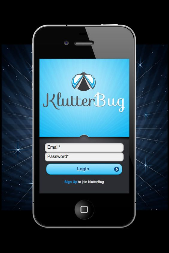 Login screen example for iPhone/Android app Graphics