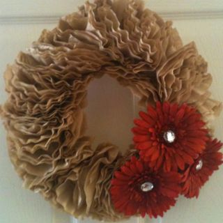 ... wreaths and more coffee filter wreath coffee filters wreaths coffee