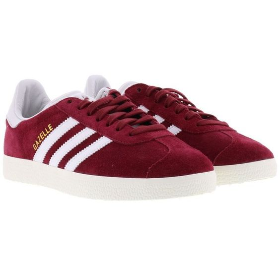 Adidas Gazelle Sneakers (1 420 ZAR) ❤ liked on Polyvore featuring shoes, sneakers, red, red shoes, adidas shoes, adidas, adidas sneakers and adidas footwear