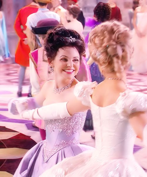 """""""Once Upon A Time: Snow White dancing with Cinderella. Note: years ago my mother told me it was very common for women to dance with other women in the 1930s-40s at dances. So my grandmother had no qualms about dancing with her girl friends at her 75th birthday party. So when Snow and Cinderella danced together. This came to mind and made me smile because it reminded me if my Grandmother. ~ Debbi"""""""