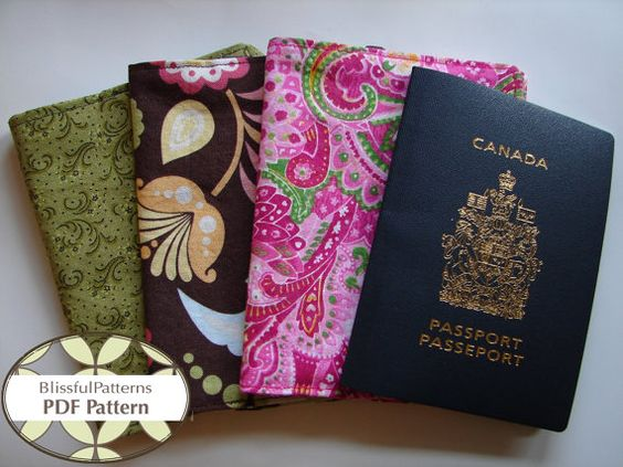 Passport Holder and Credit Card Holder PDF by BLISSFULpatterns, $4.50