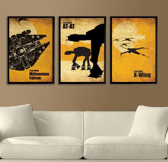 Decoração da sala inspirada em trechos de Star Wars