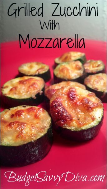 Recipe was MADE for a picky eater.  Gluten- Free. Only 6 Ingredients. Quick to Make. Grilled Zucchini with Mozzarella