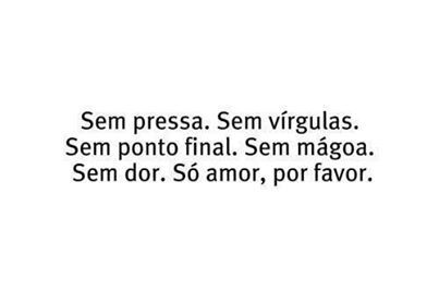 Só amor..