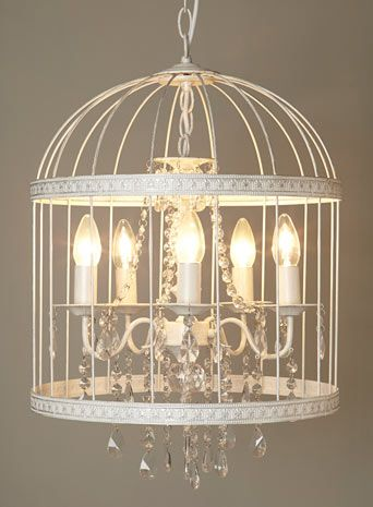 bhs vintage robyn cage chandelier white bridcage. Black Bedroom Furniture Sets. Home Design Ideas