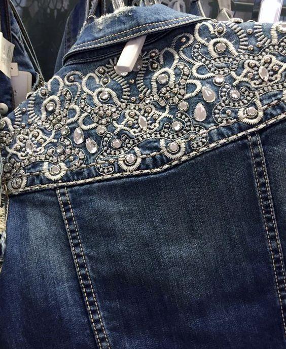 O Jeans do Inverno 2017   As principais tendência em denim, 70 fotos com pacths, aplicações, detalhes: