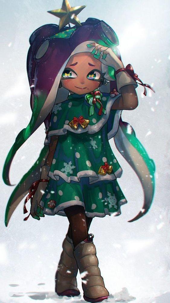 #Noël #Splatoon2 #Dessin #Fanart hizake #JeuxVideo #Nintendo #NintendoSwitch
