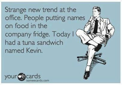 New trends on lunch at work? #office #humor