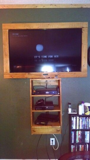 My boyfriend made this for our TV in our living room. Jake is very talented:)