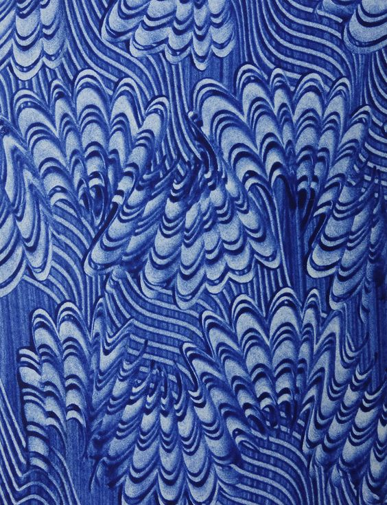 Unknown Maker Contemporary Paste Paper Pattern Paper Marblized Paper Marble Paper