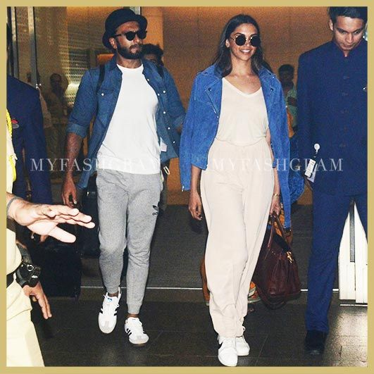 Deepika Padukone Ranveer Singh Airport Style Myfashgram Deepika Padukone Bollywood Fashion Airport Style