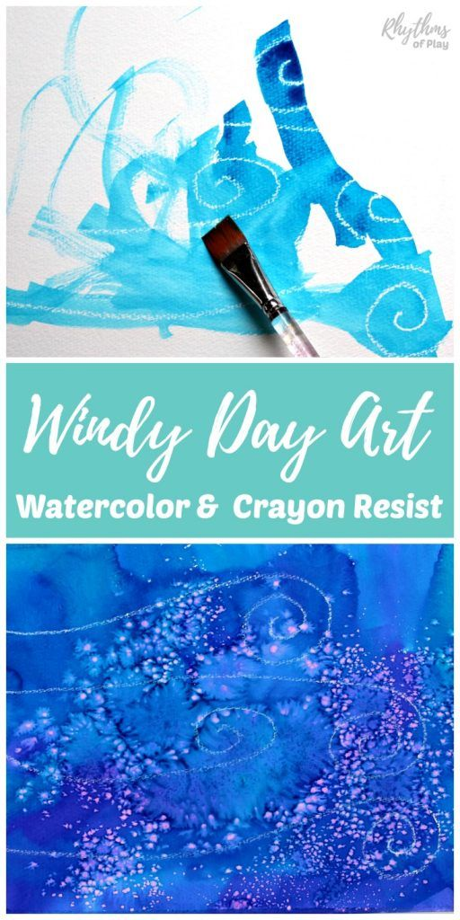 Windy Day Art Science Experiment With Watercolor Resist Mediums