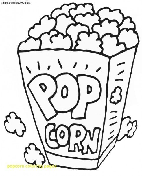 Popcorn Coloring Pages For Kids Colored Popcorn Food Coloring Pages Coloring Pages