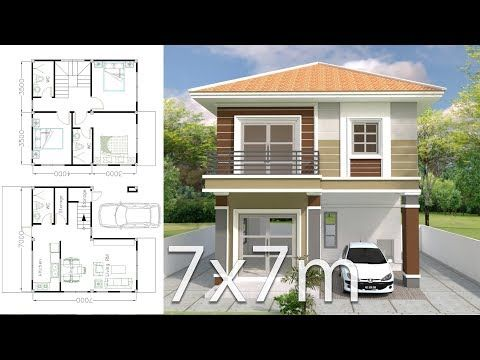 Modern House Plans 13x14m And 19x14m 1 Home Design Plan 13x14m With 4 Bedrooms 2 Home Design Plan 1 Architectural House Plans House Layout Plans House Plans