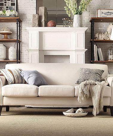 Look what I found on #zulily! White Kinsley Sofa #zulilyfinds