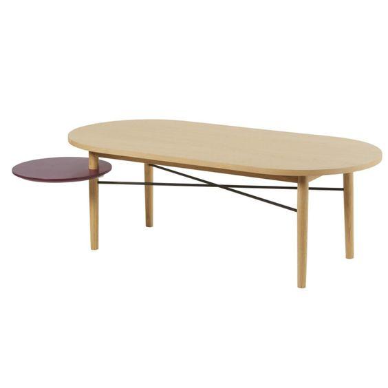 Table Basse Avec Plateau Rond Pivotant Bordeaux Table Basse Table Basse Noire Plateau Rond