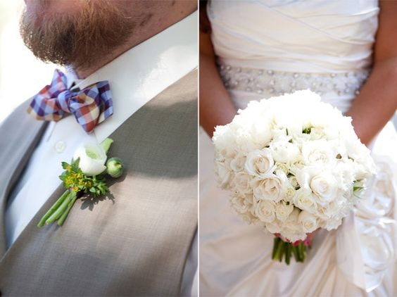 Bouquet and boutonniere by Garden on the Square, Savannah Wedding Florist