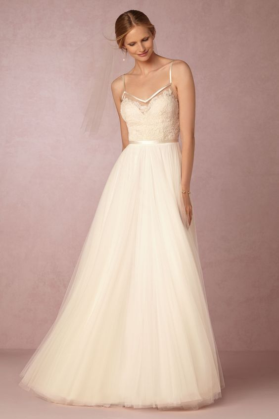 BHLDN Charlotte Gown in  Bride at BHLDN