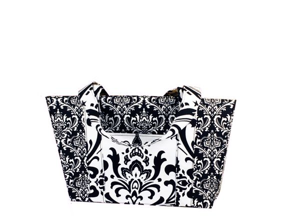 love this simple black and white member-designed bag!