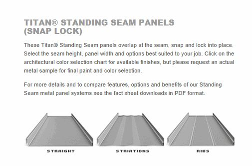 What Type Of Metal Roofing Should I Use On My Home In Tacoma - sample fact sheets