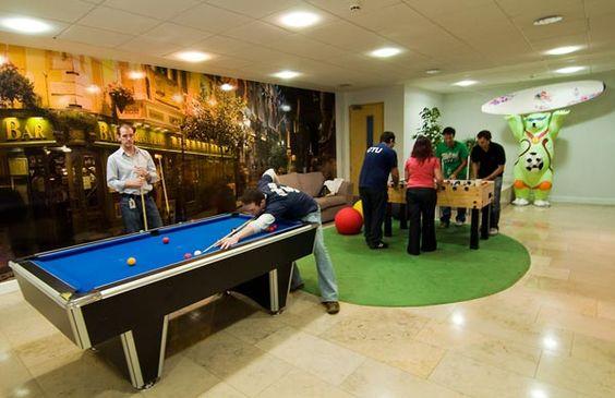 Google 39 s break room in dublin my ideal office for Ideal office design