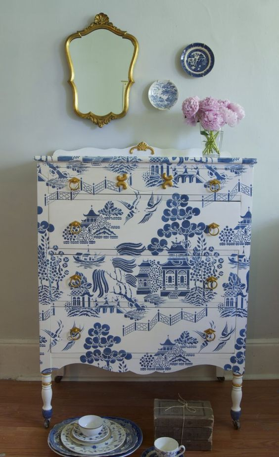 blue willow dresser beauty shot