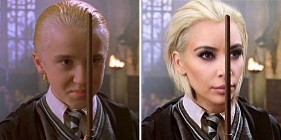 so great Tom Felton's Response To Kim Kardashian's Draco Malfoy Hair Will Make You LOL