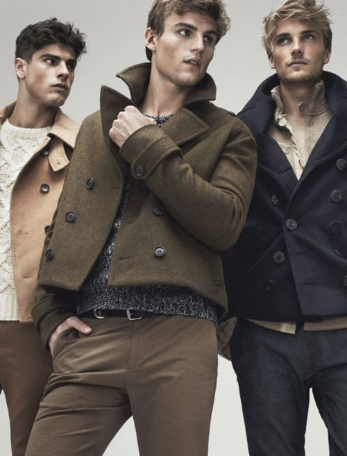 the cropped peacoat club.