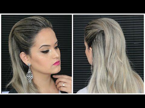 Penteado Fácil Moicano Feminino simples com topete - YouTube