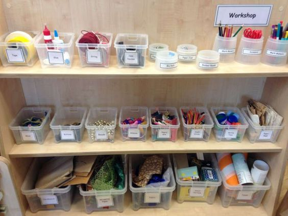 Creative workshop storage at Huddersfield Early Excellence ...