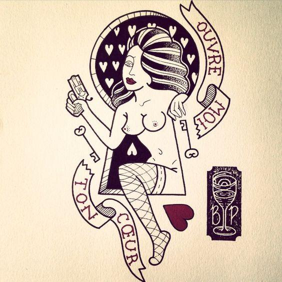 OUVRE MOI TON CŒUR !!! Flash st Valentin !!! A vendre  #tattoo #tattoo_flash #french_tattoo #turbo_zero #brice_poil