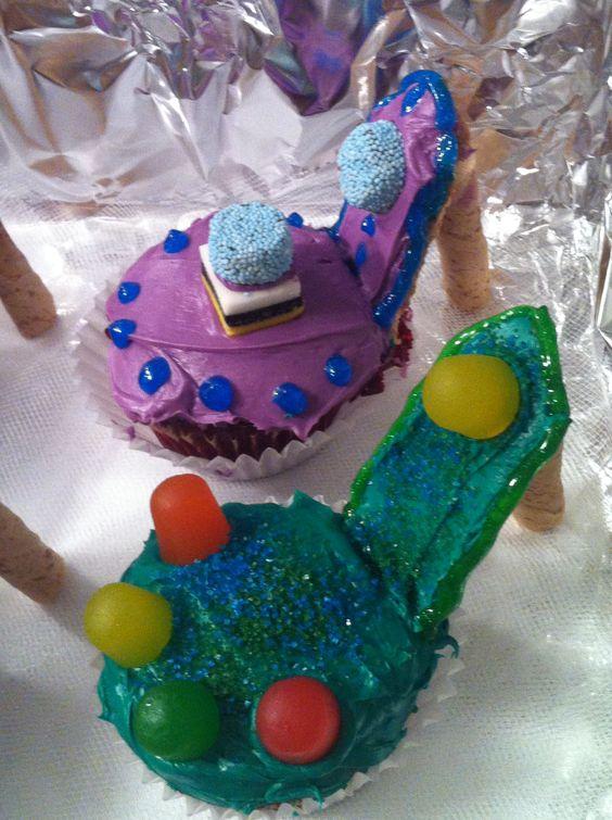 My high heel cupcakes