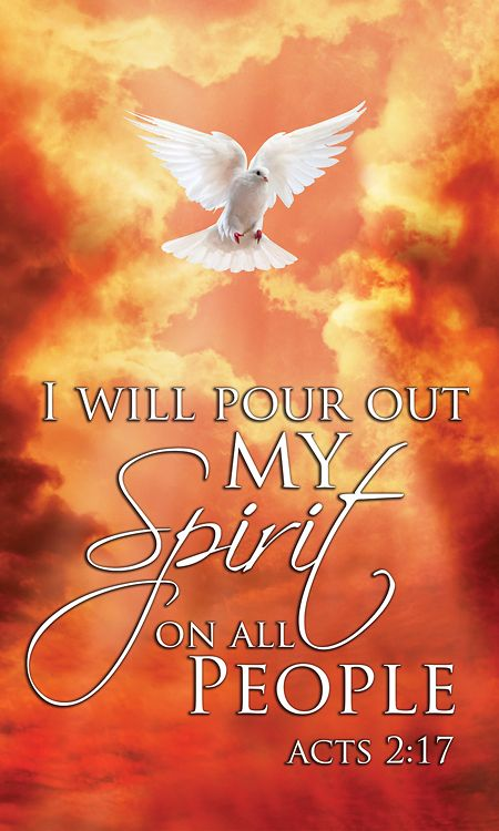 (Acts 2:17) In the last days, God says, I will pour out my Spirit on all people. Your sons and daughters will prophesy, your young men will see visions, your old men will dream dreams.