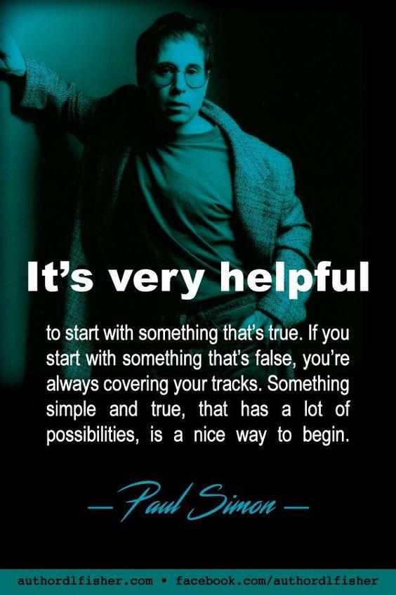 Zitat Paul Simon, Schreiben, Schriftsteller