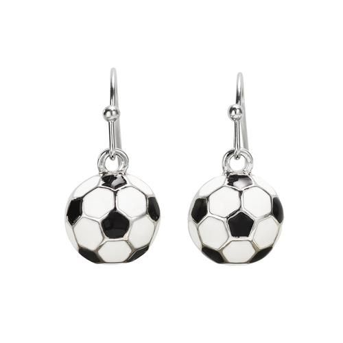GIMMEDAT Volleyball Silver Dangle Earrings Player Jewelry Gift