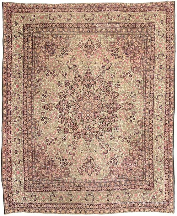 LAVER KIRMAN, Southeast Persian 9ft 1in x 11ft 2in Late 19th Century