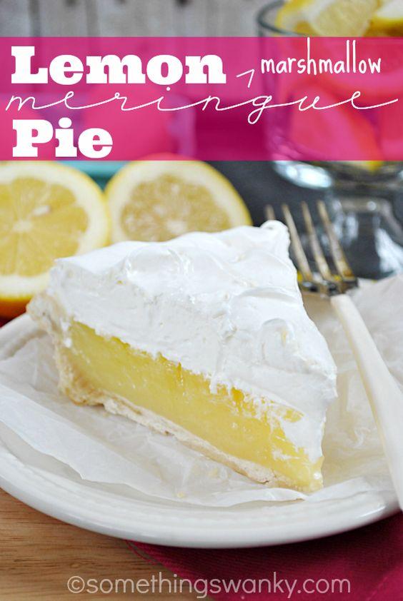 Lemon (Marshmallow) Meringue Pie | Recipe | Meringue Pie, Meringue and ...