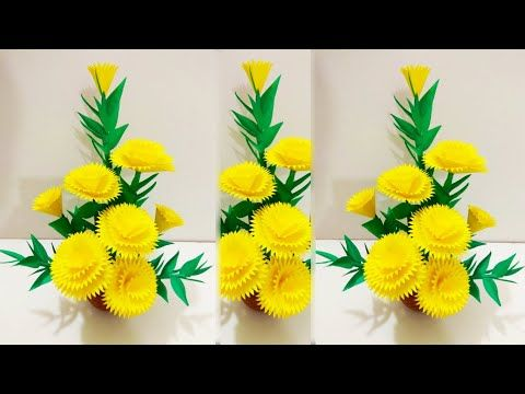 Diy Home Decoration Paper Flower Art And With Paper Flower Handmade Paper Flower Bouquet Youtube In 2020 Paper Flowers Paper Flower Art Paper Flower Bouquet