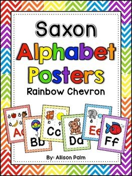 Every primary classroom needs an alphabet display! These 26 printable posters are bright and cheerful and will serve both as a teaching tool and as resource to your students. Each poster includes the capital and lowercase letter as well as pictures to correspond to those used with the Saxon Phonics program.